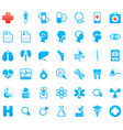 42 medical icons vector image