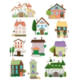 Assorted cute houses collection vector image vector image