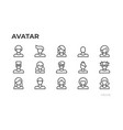 avatars users icons and profile pictures vector image