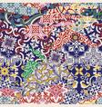 azulejos tiles patchwork wallpaper vector image vector image
