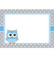 baboy owl card vector image vector image