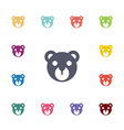 bear flat icons set vector image
