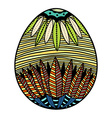 Beautiful easter egg vector image
