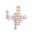 best top rated handheld shower head text vector image vector image