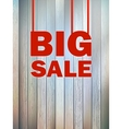 Big Sale text on wooden background EPS10 vector image