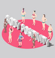 body positivity isometric poster vector image vector image