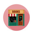 book shop front view flat icon vector image