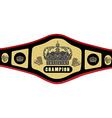 Boxing belt vector image