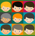boy face portrait fun happy young expression cute vector image vector image
