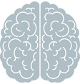 brain icon top view side view mind creativity vector image vector image