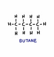 butane formula vector image vector image