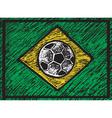 chalked brasilian composition vector image