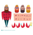 character speaks animations hipster beard vector image vector image