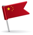 Chinese pin icon flag vector image vector image