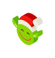 christmas elf head isometric object vector image