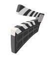 Clapperboard cinema cartoon icon vector image