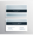 clean blue gray business card design template vector image vector image