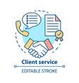 client service concept icon customer loyalty idea vector image vector image