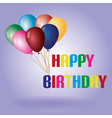colors balloons and happy birthday text eps10 vector image vector image