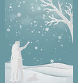 concept of love in winter season vector image