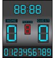 Digital Scoreboard Background vector image