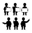 Doctor scientist teacher vector image vector image