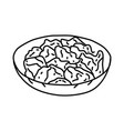 donburi icon doodle hand drawn or outline icon vector image vector image