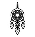 dreamcatcher hanging icon image vector image