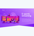 e-sport game streaming landing page vector image vector image