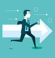 financial success running man arrow business vector image