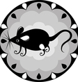 funny Chinese horoscope rat vector image vector image