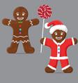 gingerbread man set vector image vector image