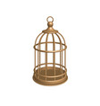golden cage vector image
