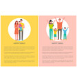 happy family spend time together parents and kids vector image vector image