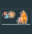 happy new year 2018 greeting card with dog asian vector image vector image