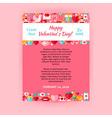 Happy Valentine Day Invitation Template Flyer vector image vector image