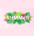 hello summer typographic design with abstract vector image vector image