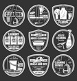 house cleaning or laundry service icons vector image