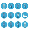 Hygiene icons flat vector image vector image