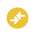 icon transfer arrow in color circle vector image vector image