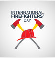 international firefighters day logo icon design vector image