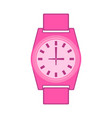 isolated wristwatch icon vector image vector image