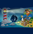 lighthouse with pirate theme 4 vector image