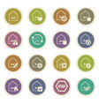 mail and envelope icons set vector image vector image
