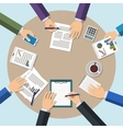 Meeting office teamwork brainstorming concept vector image vector image