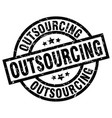 outsourcing round grunge black stamp vector image vector image