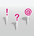Paper exclamation marks vector image vector image