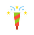party popper christmas related flat style icon vector image vector image