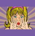 pop art blonde pop art retro vector image