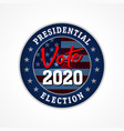 presidential election usa vote 2020 star emblem vector image